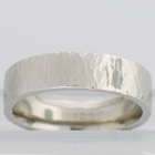 palladium flat ball peen hammered band
