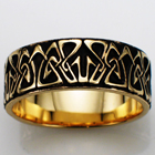 14 karat yellow gold art-nouveau band