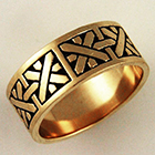 14 Karat Yellow Gold Band with woven pattern