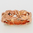 14 Karat Rose Gold Leaf Band