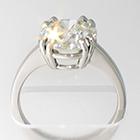 Platinum solitaire ring with 3 carat round brilliant diamond in 8-prong gallery setting