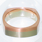 14 Karat 2-tone Band (White Gold and Rose Gold) with flat sides, bottom, and top