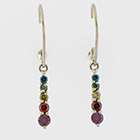 Rainbow diamond dangle earrings.