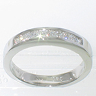 Platinum channel band with 0.48 carat total weight princess-cut diamonds