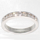 Platinum channel band with 0.45 carat total weight round diamonds
