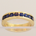 14 Karat Yellow Gold Color-Changing Sapphire channel-set band