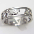 open band w/ multi stone fancy shaped diamonds